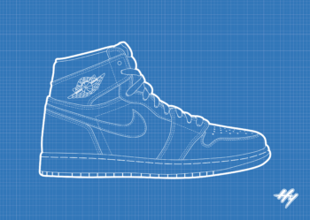 Nike Air Jordan 1 Blueprint