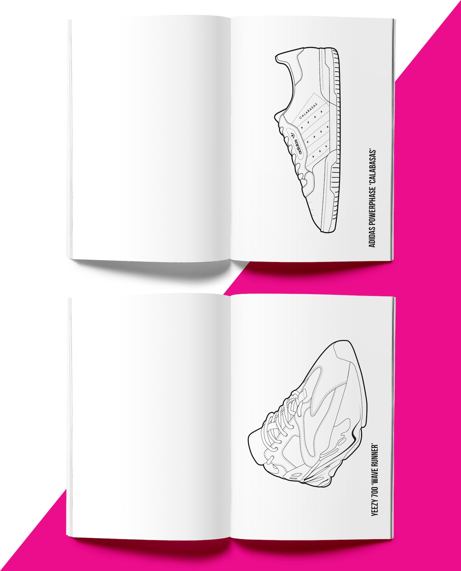 Hyprints | The Hyprints Premium Sneaker Coloring Book