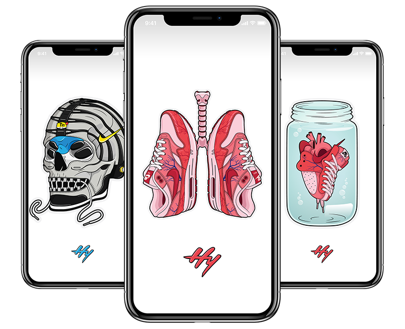 Hyprints wallpapers email subscribe sneaker art