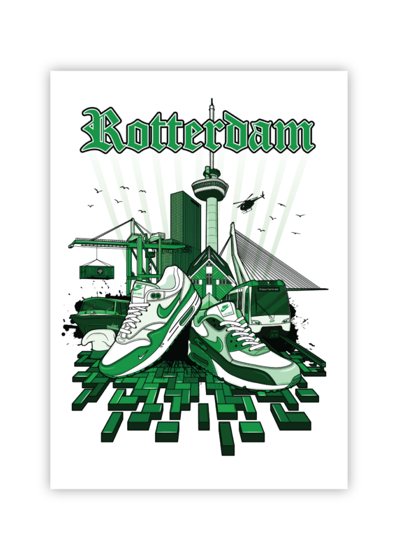 Rotterdam icons Hyprints Sneaker art print