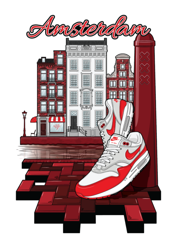 Amsterdam hyprints sneaker art nike