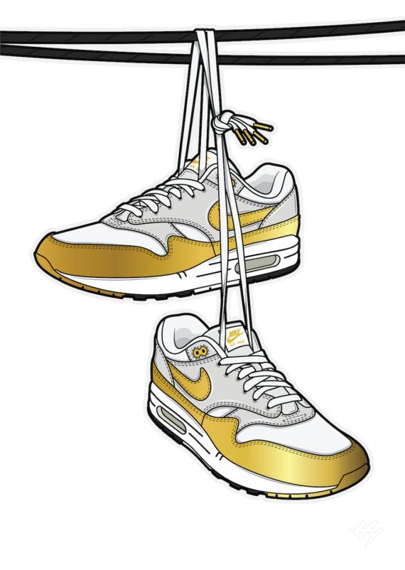 Urban Legend Shoe tossing Hyprints Air Max Sneaker art