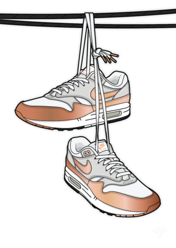 Urban Legend Shoe tossing Hyprints Air Max Sneaker art