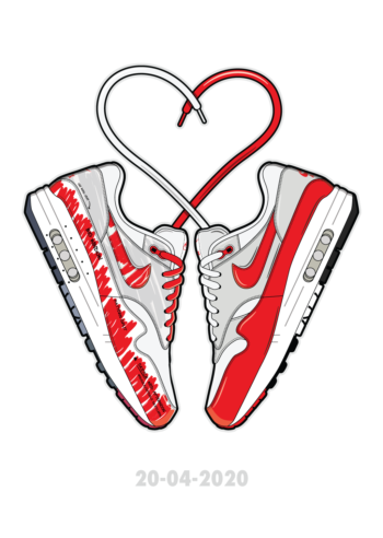 Love is in the Air sneaker art Air Max Hyprints