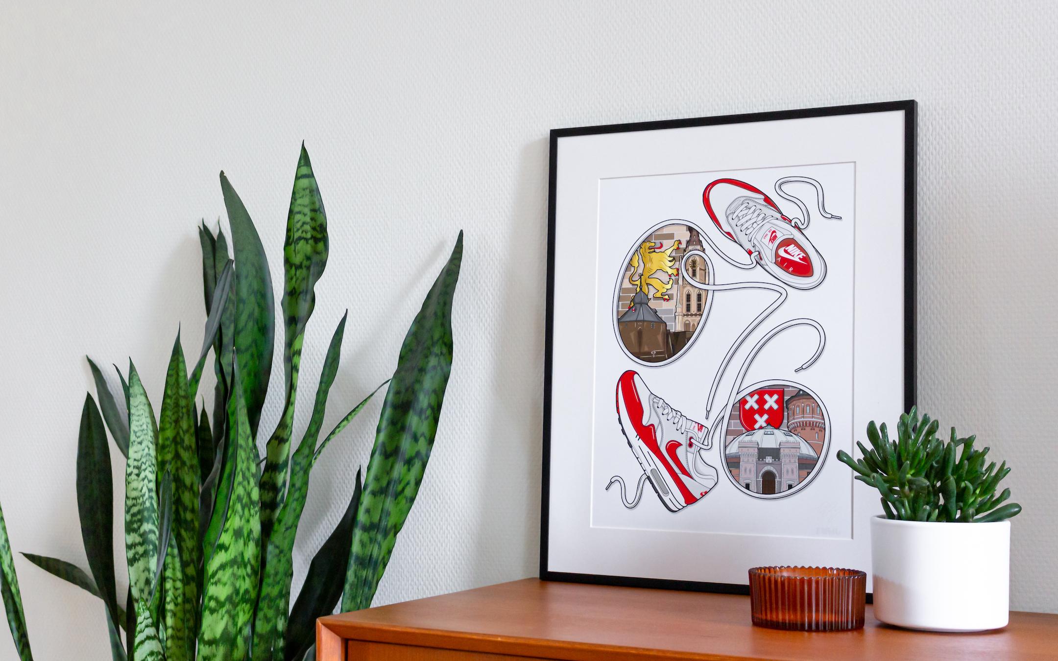 Breda sneaker art print hyprints fawl