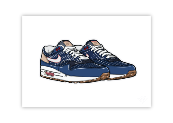 Hyprints Denham Nike Air Max 1 sneaker art print