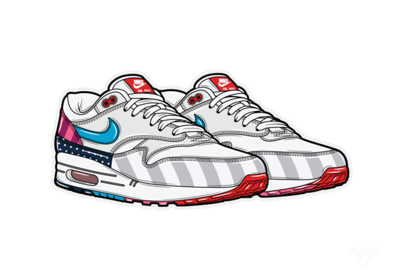 Hyprints Nike Air Max 1 Parra 2018 sneaker art print