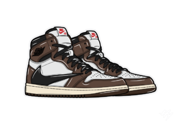 Hyprints Nike Air Jordan 1 Travis Scott sneaker art print