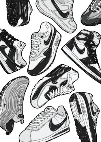 Hyprints sneaker art classic sneakers nike air max jordan dunk cortez
