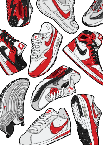 Hyprints sneaker art classic sneakers nike air max jordan dunk cortez