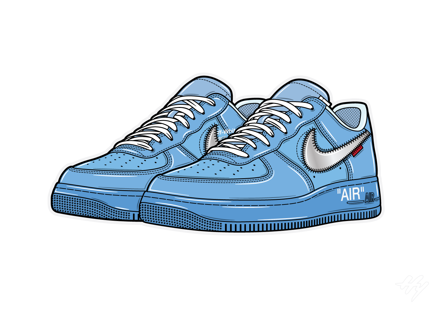 Hyprints sneaker art off-white nike air force 1 MCA