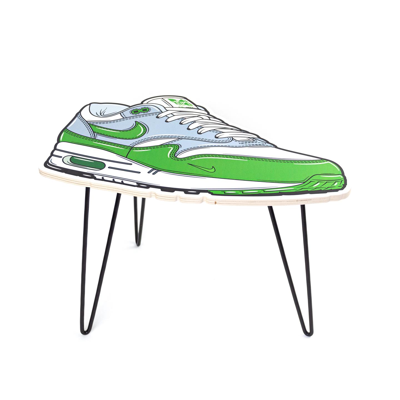 Hyprints Nike Air Max 1 Table Chlorophyll Parra Patta Sneaker Art