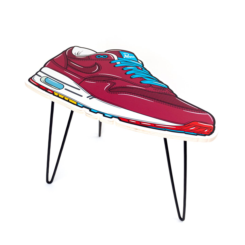 Hyprints Nike Air Max 1 Table Cherrywood Parra Patta Sneaker Art