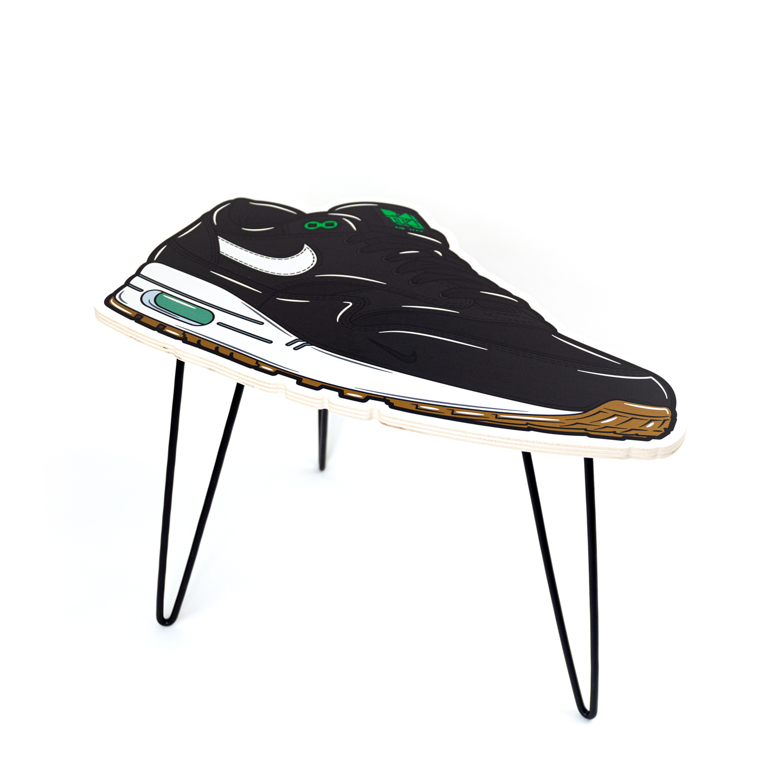 Hyprints Nike Air Max 1 Table Lucky Green Parra Patta Sneaker Art