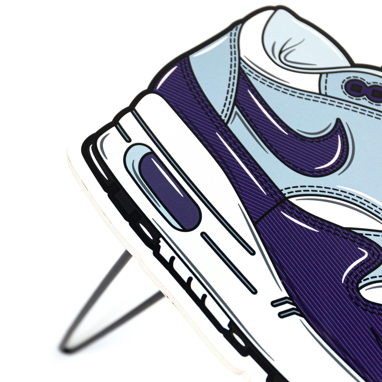 Hyprints Nike Air Max 1 Table Purple Denim Parra Patta Sneaker Art