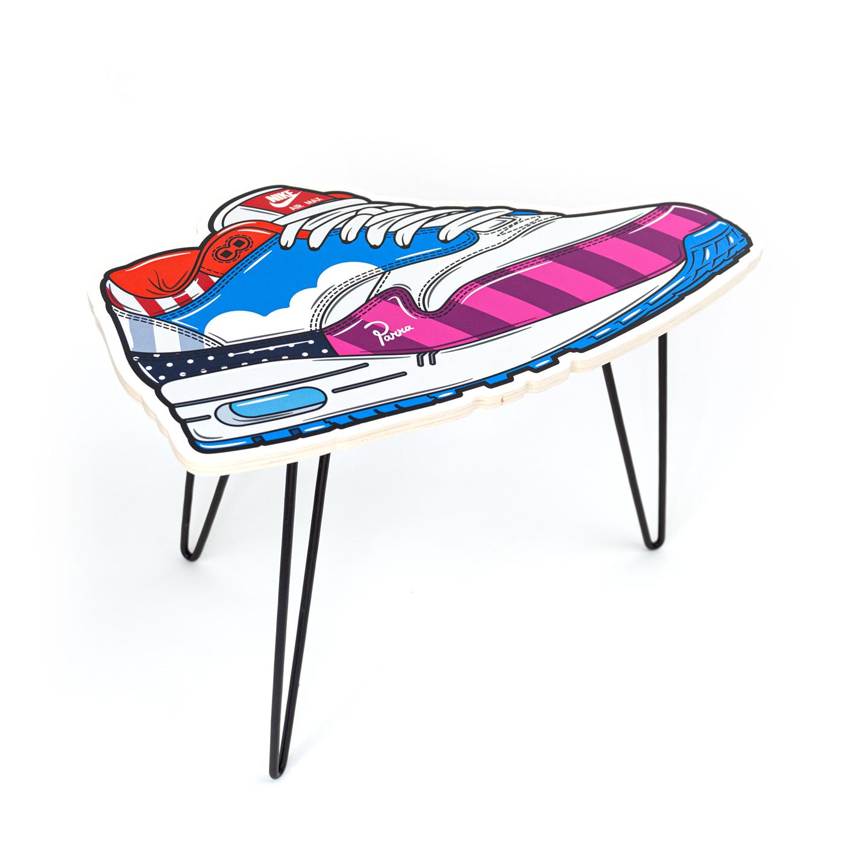 Hyprints Nike Air Max 1 Table Friends & Family Parra Patta Sneaker Art