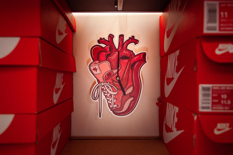 Hyprints Sneaker Heart Clock Art Air Max 1